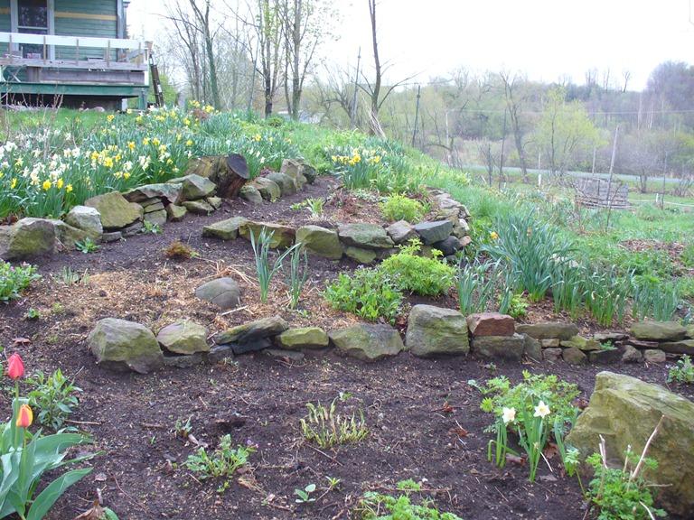 stone walls front yard