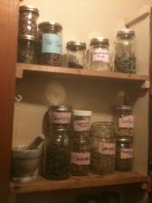 dried herbs for tea