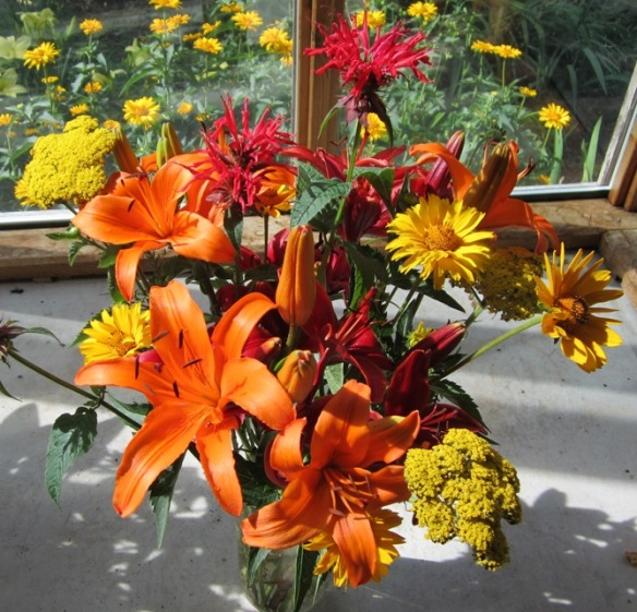 lilies were great for bouquets--the asiatics, because the others are too perfumey