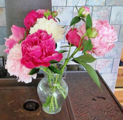 mid June peony bouquet