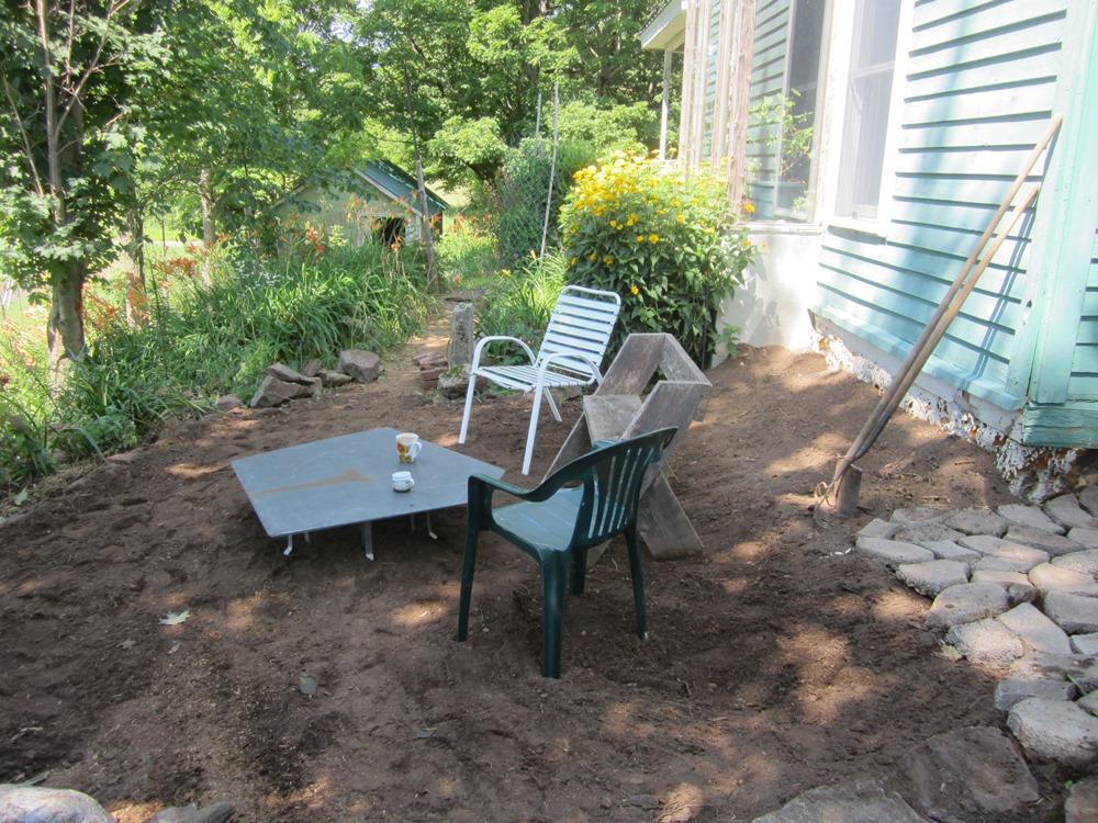 patio flattened