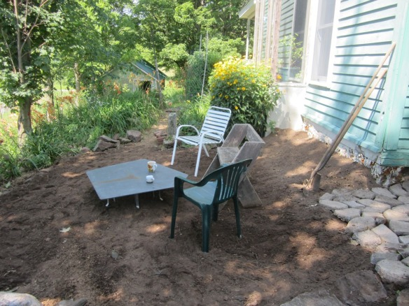 patio flattened