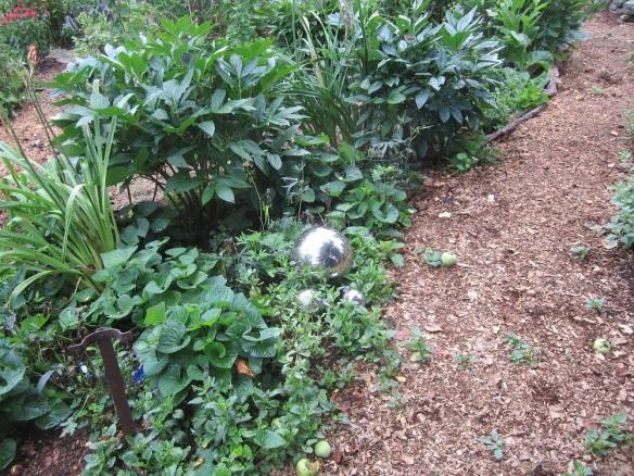 silver gazing globes