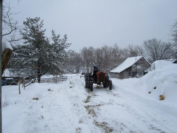 David plowing the driveway
